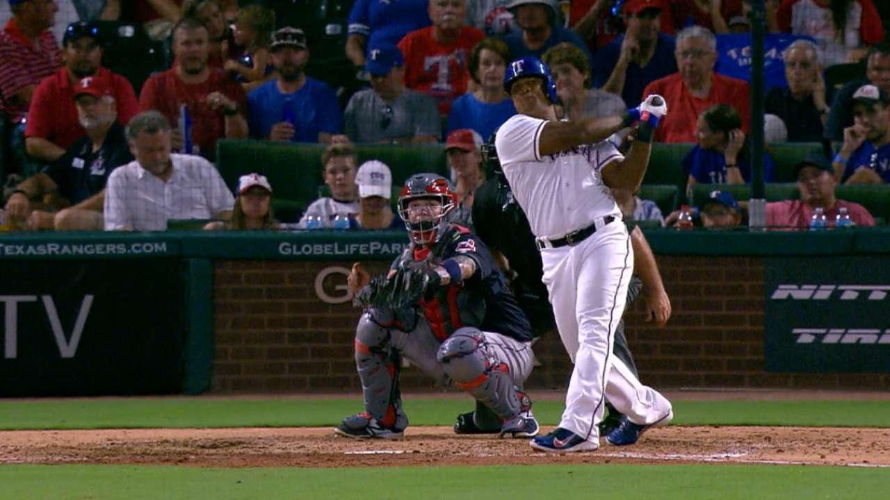 Rangers' big bats, Hamels lead way past Tribe