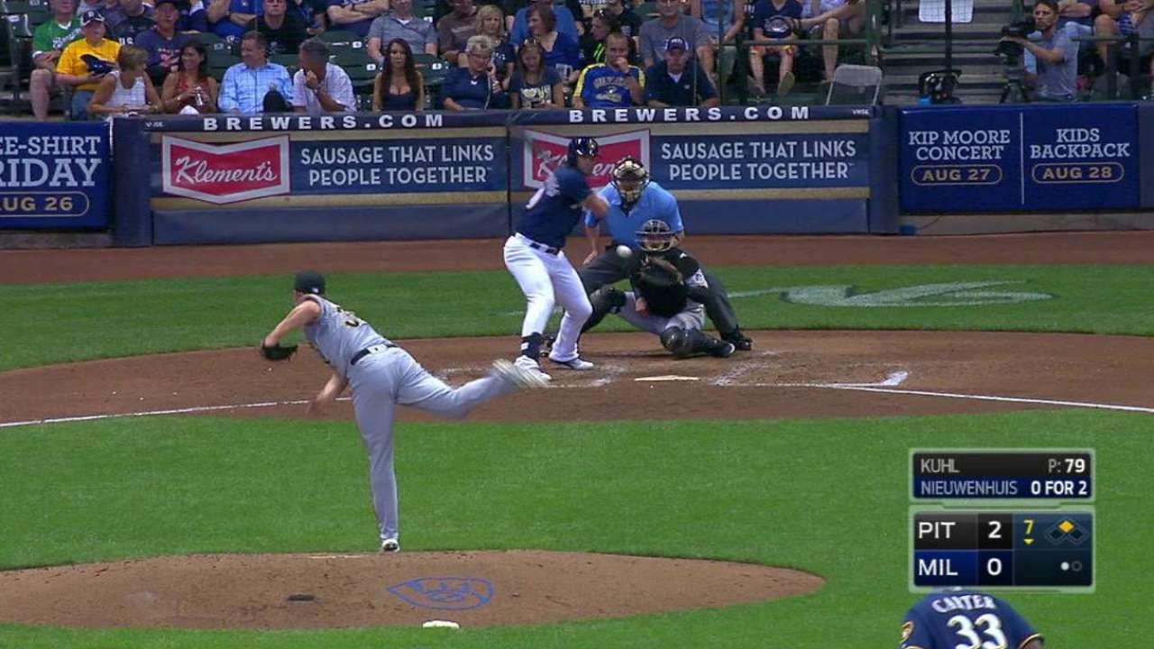 Nieuwenhuis' two-run home run