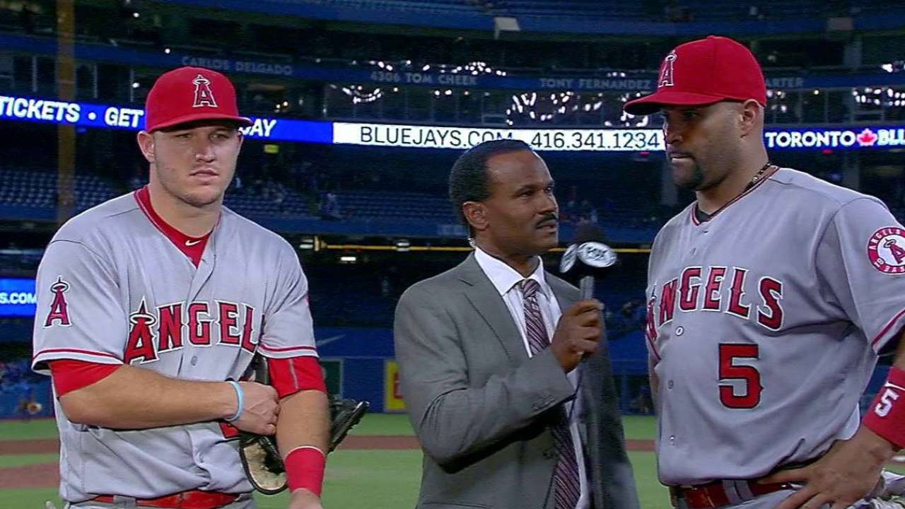 Trout and Pujols on win