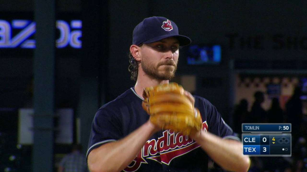 Tribe won't 'run away from' Tomlin in rotation