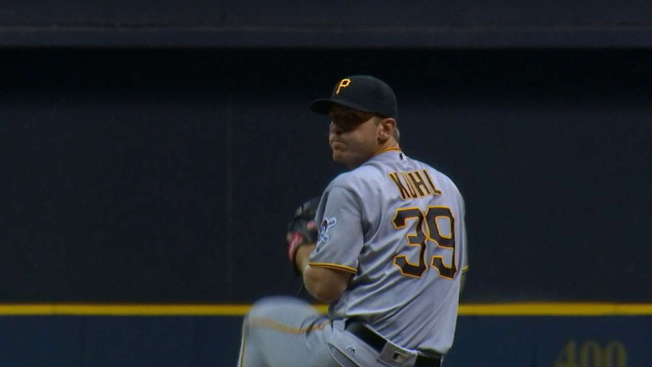Kuhl stays cool vs. Crew, continues strong '16