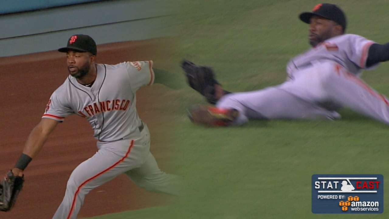 Statcast: Span's running grabs