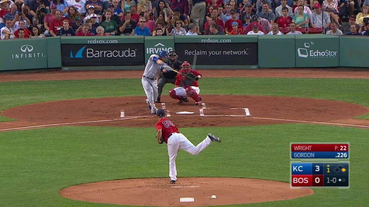 Gordon's two-run homer