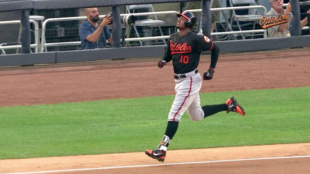 Adam Jones day to day with strained hamstring
