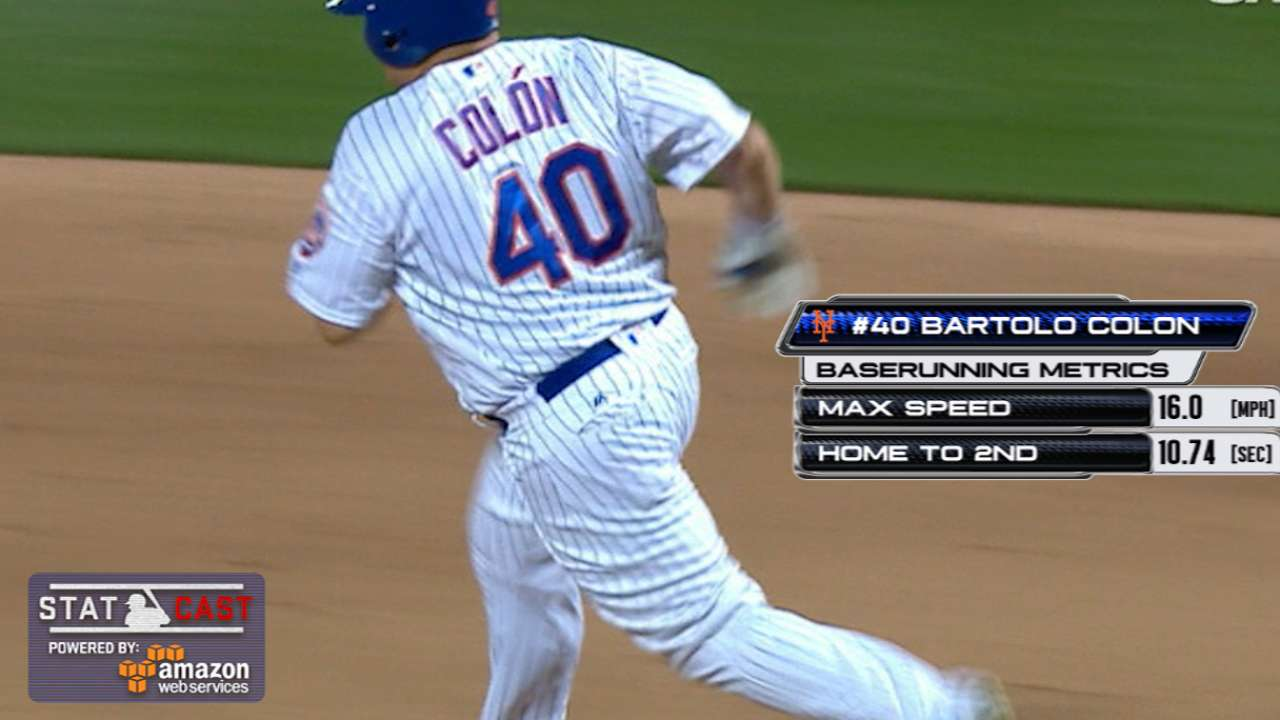 Statcast: Colon doubles to left