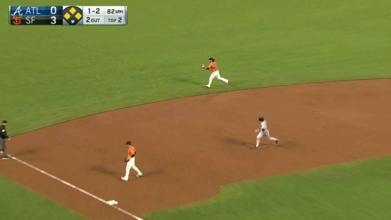 Crawford snares a line drive
