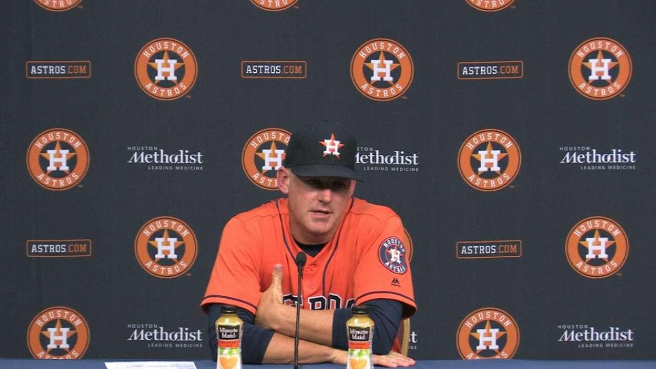 Hinch on Astros' walk-off win