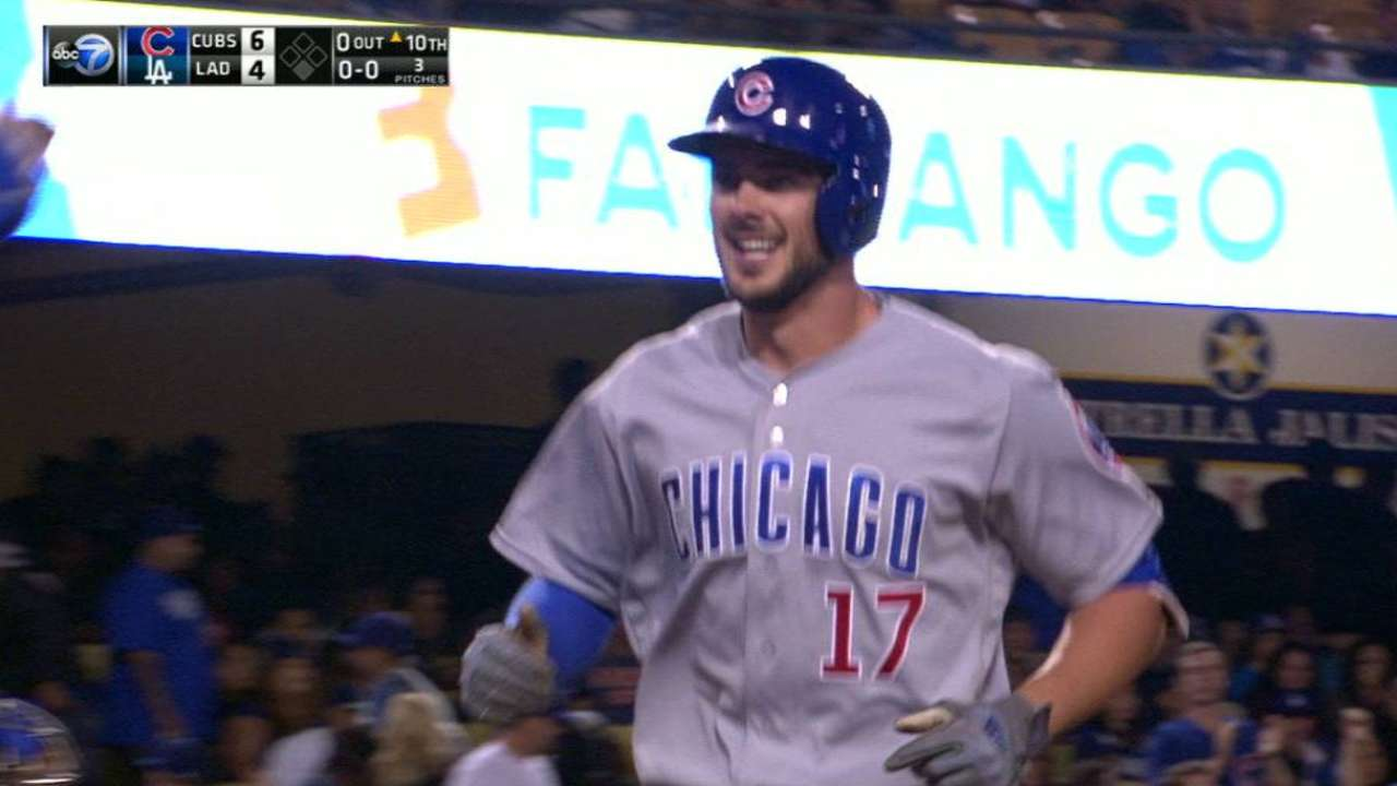 Bryant's go-ahead homer in 10th