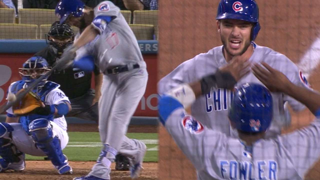 Bryant's 2nd blast lifts Cubs past LA in 10th