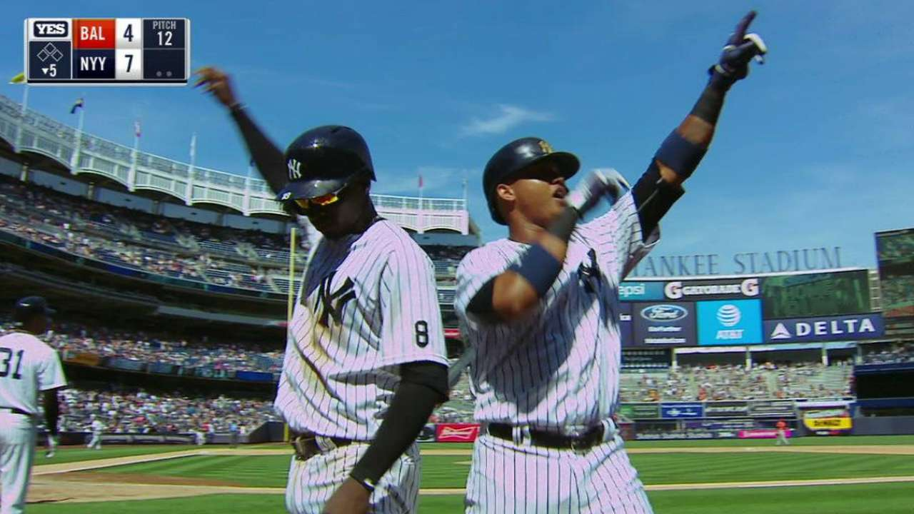 Yanks' offense hitting on all cylinders in August
