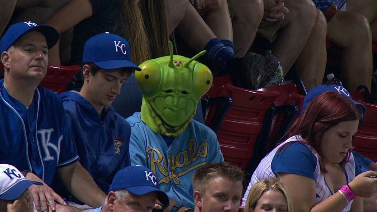 Rally Mantis cheers on Royals