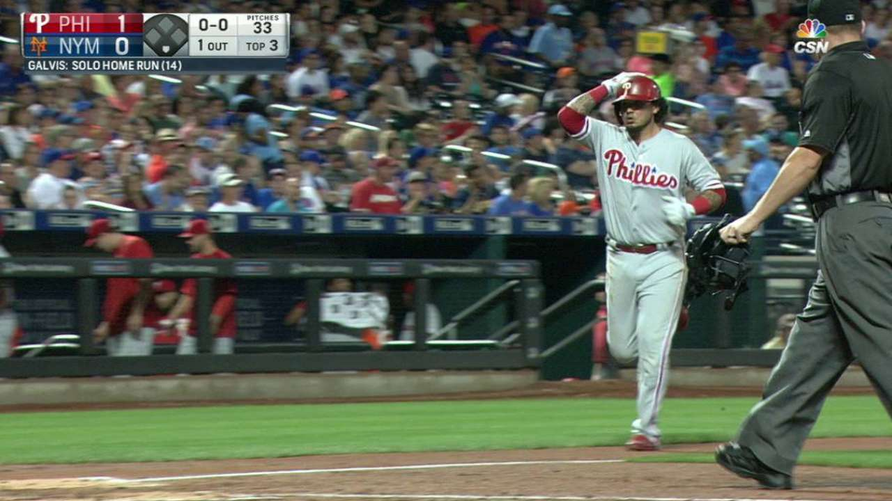 Galvis' homer all Phillies get in loss to Mets