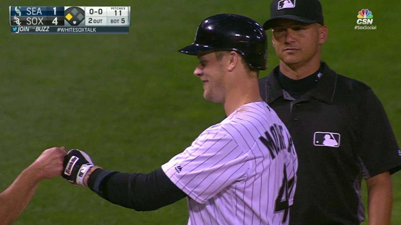 Morneau's RBI triple