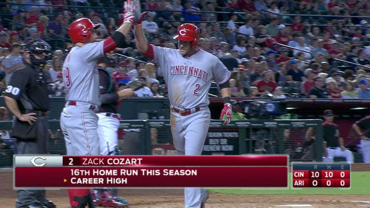 Cozart's solo homer