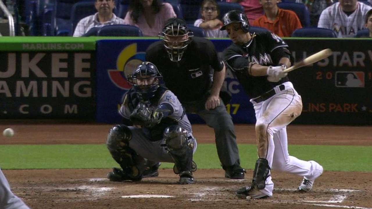 Prado's fourth hit of the game
