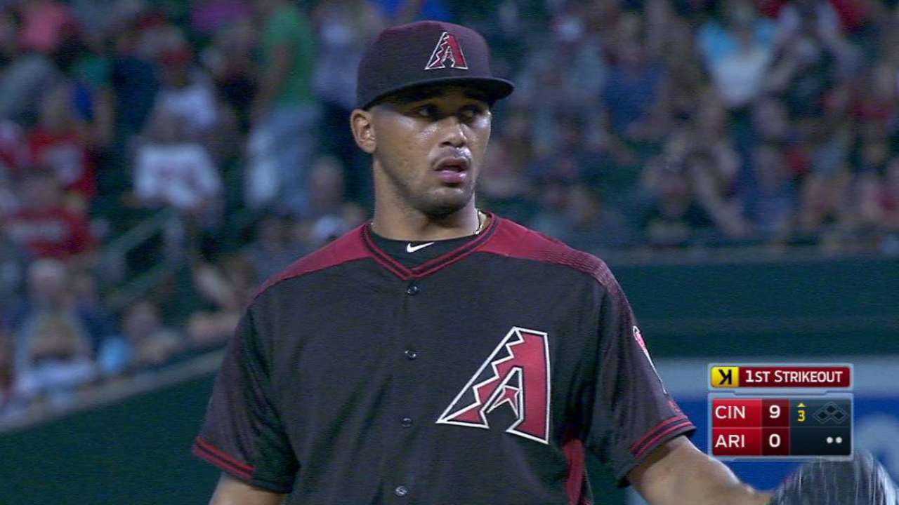 Campos pressed into long relief in MLB debut