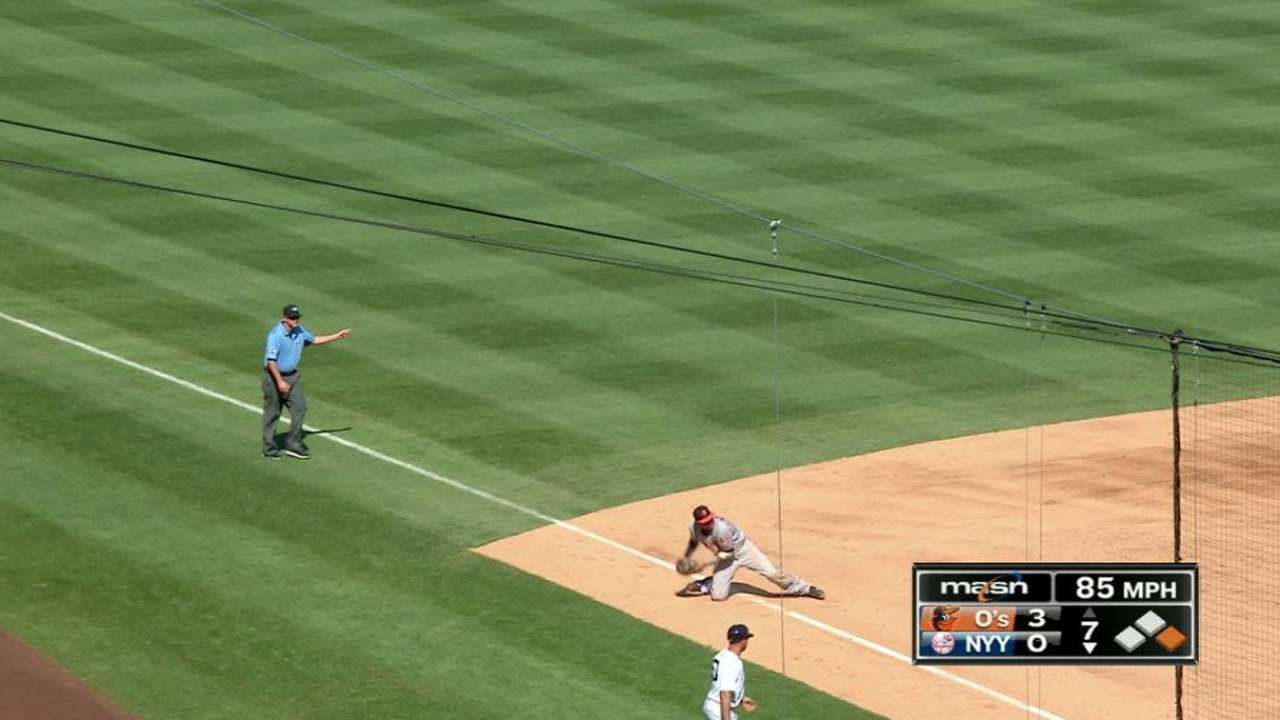 Machado's slick defensive play