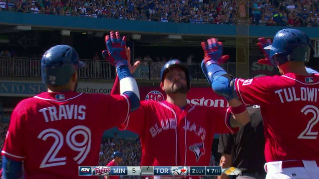 Upton Jr. plates two with double