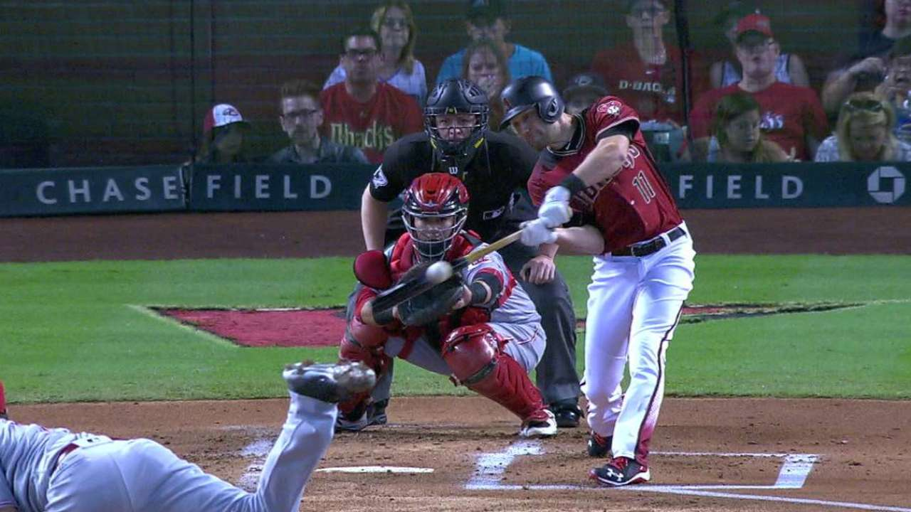 Pollock's first hit of the year