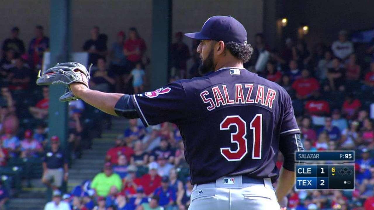 Salazar's 10th strikeout