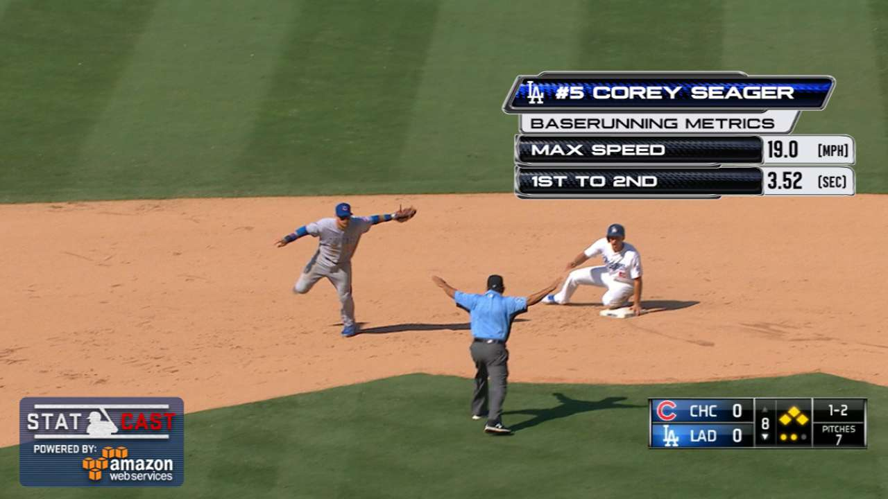 Statcast: Seager beats the throw