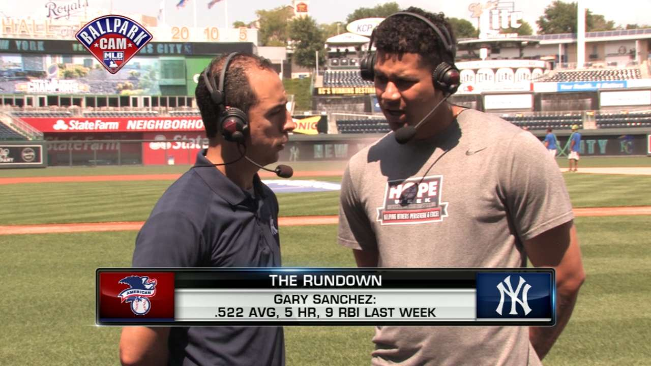 Sanchez is AL Player of the Week -- again