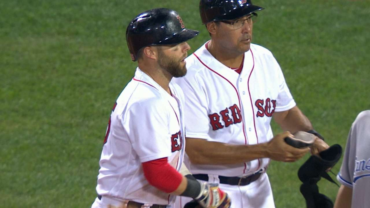Pedroia's AB hit streak ends 1 shy of MLB record