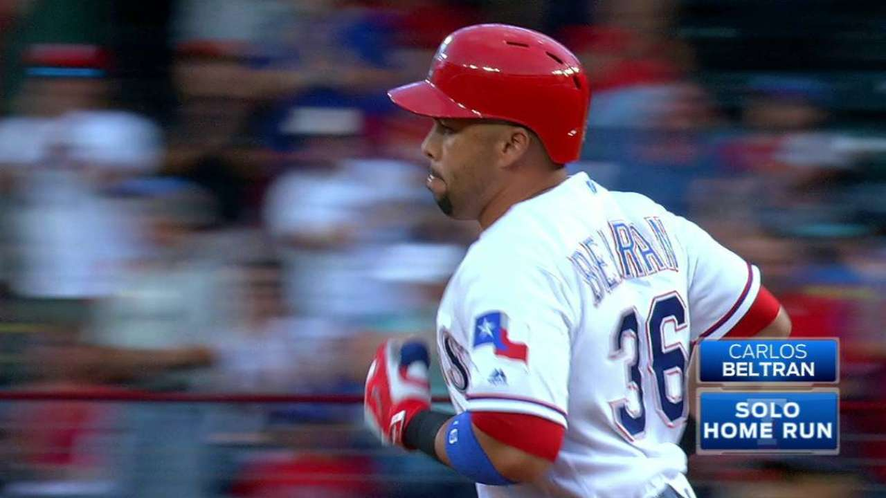 Beltran breaks out of slump vs. Mariners
