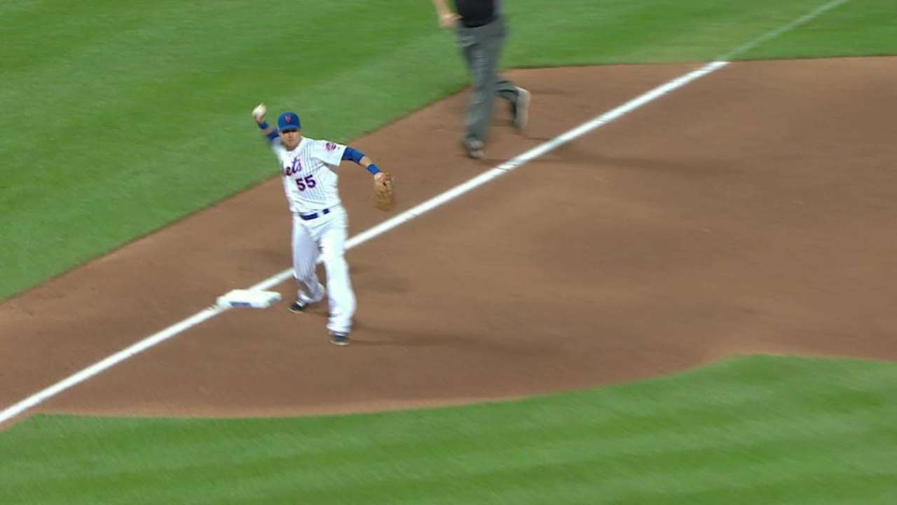 Johnson begins a double play