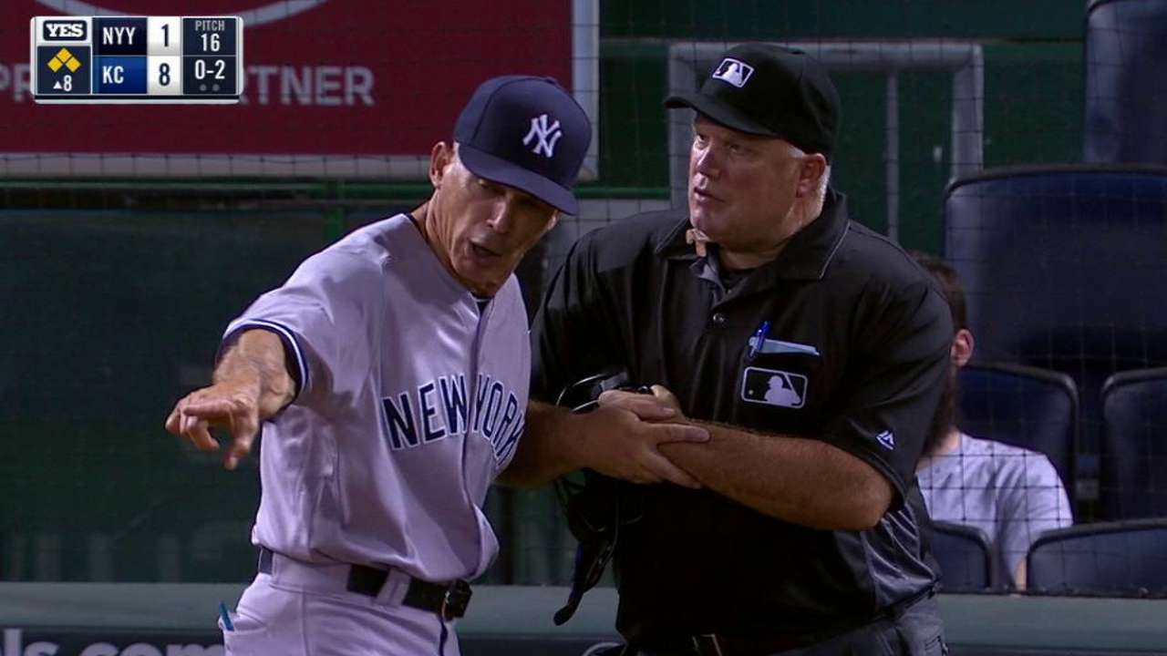Girardi gets tossed in the 8th