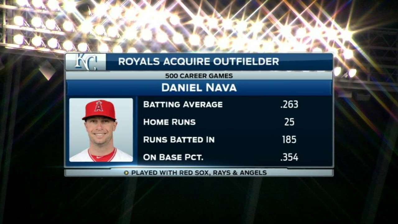 Royals acquire Nava in trade with Angels