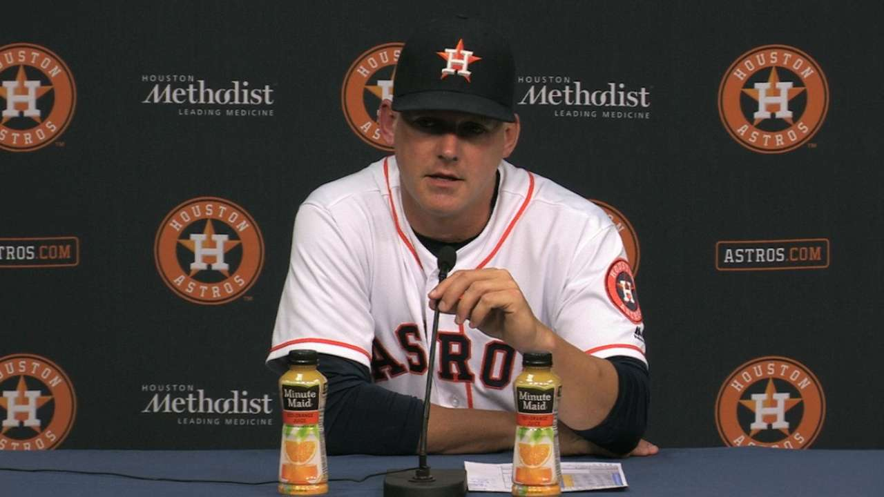 Hinch on shutout of A's