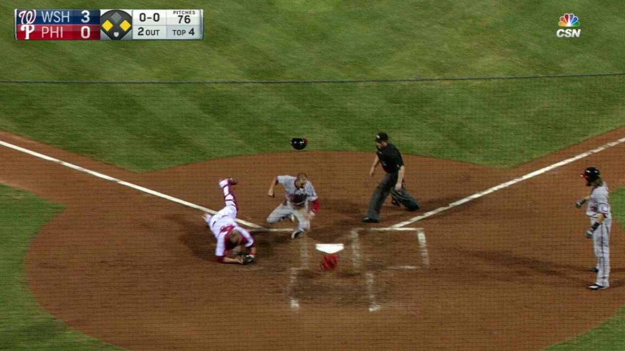 Altherr's throw nabs Espinosa