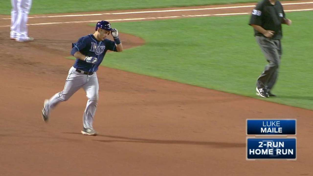 Maile's two-run homer