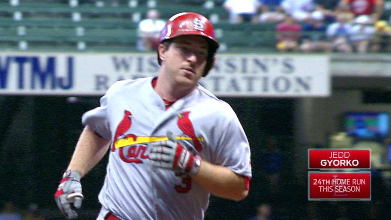 Gyorko's HR ties club record; Cards HR in 19