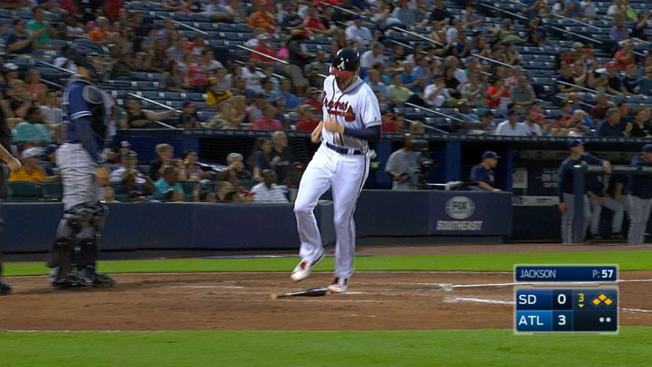 Braves' five-run 3rd inning