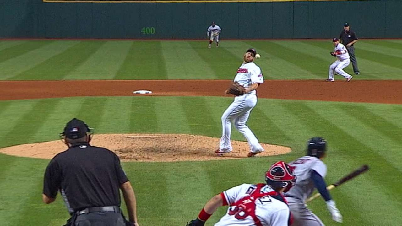 Tribe pitchers show off defense