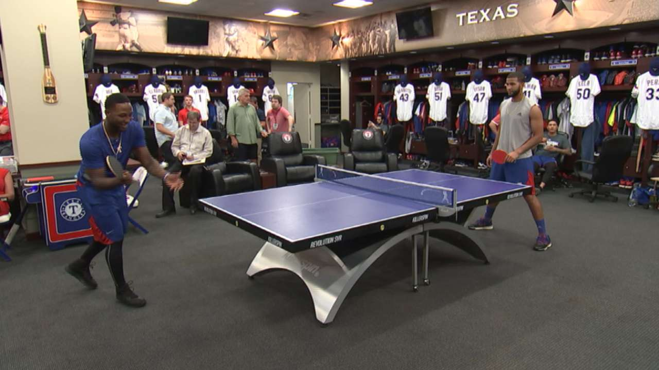 Rangers build strong clubhouse bond with pingpong
