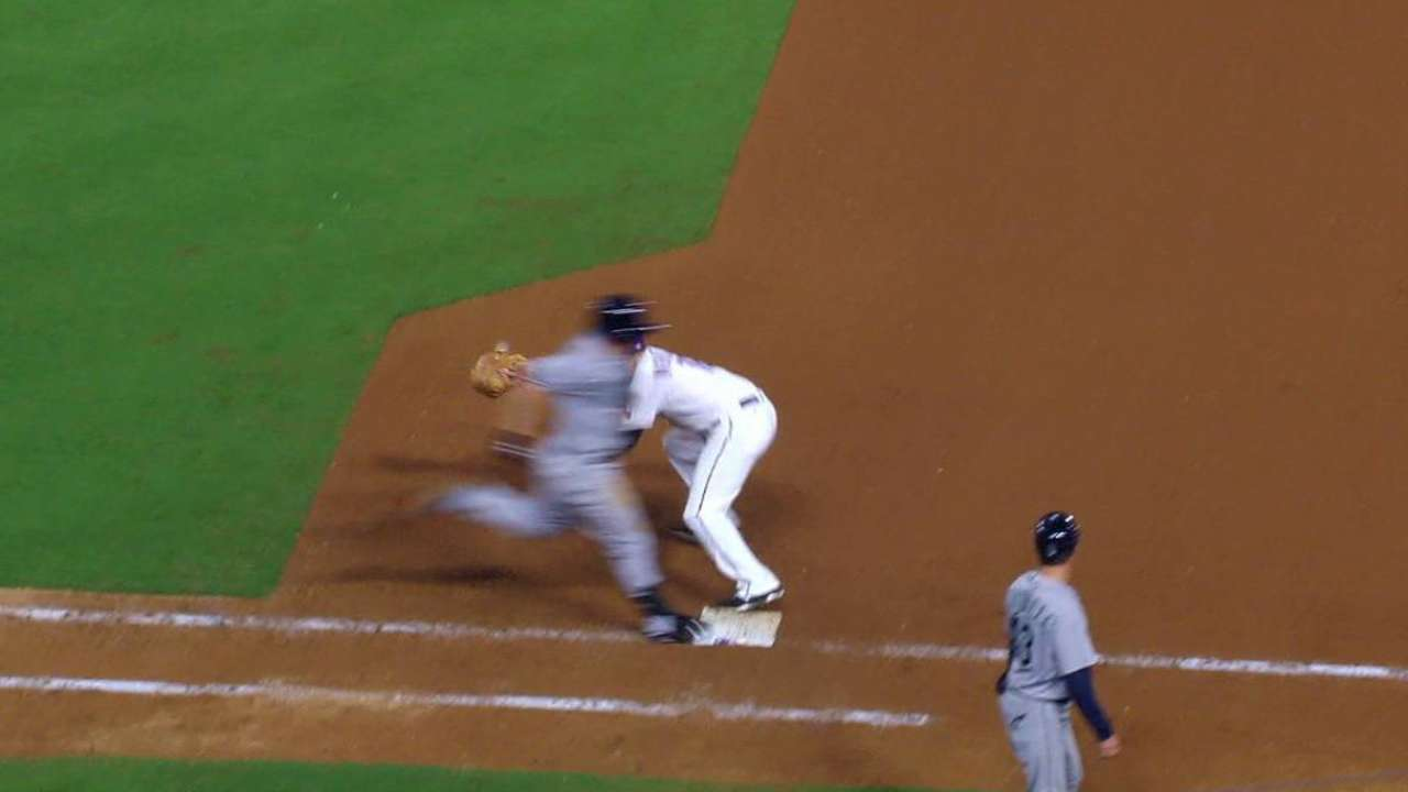 Seager's infield hit