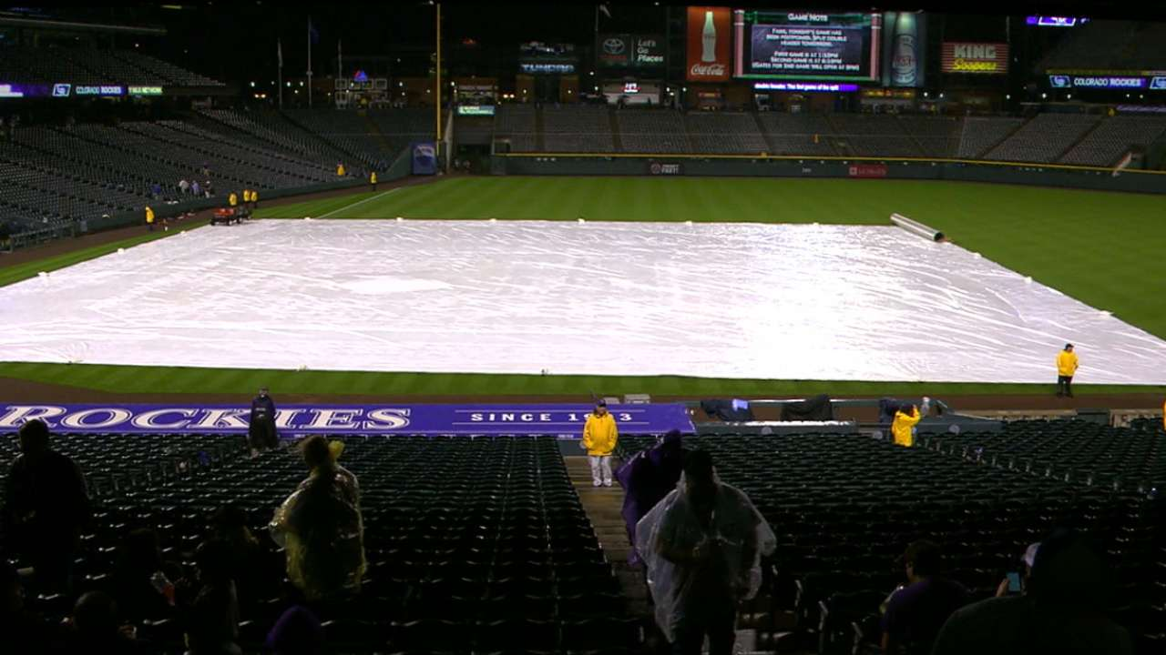 Rain forces doubleheader on Wednesday