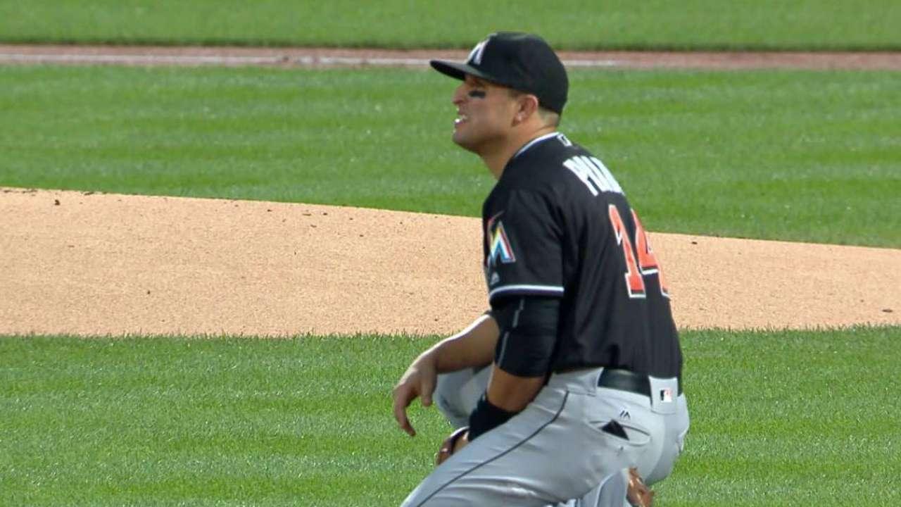 Prado shaken up, exits the game