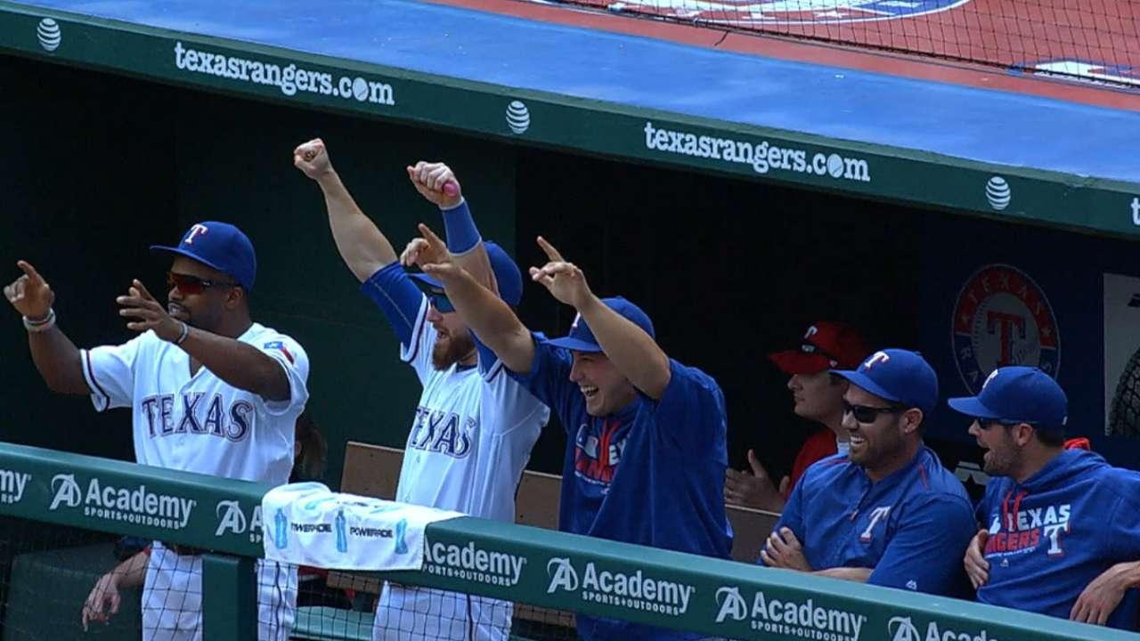Rangers strike for five runs