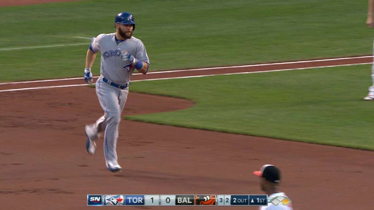 1st-place Blue Jays down O's with 1st-inning HRs