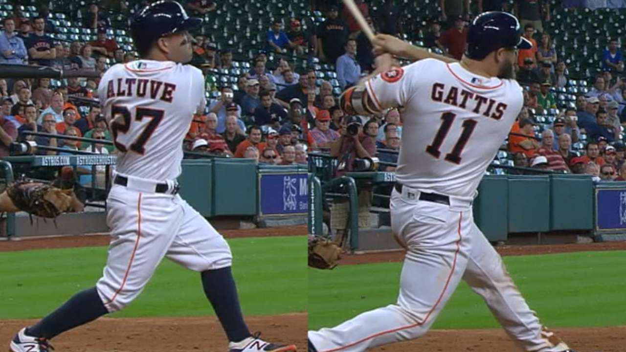 Astros roar back with 3-run 8th to sweep A's