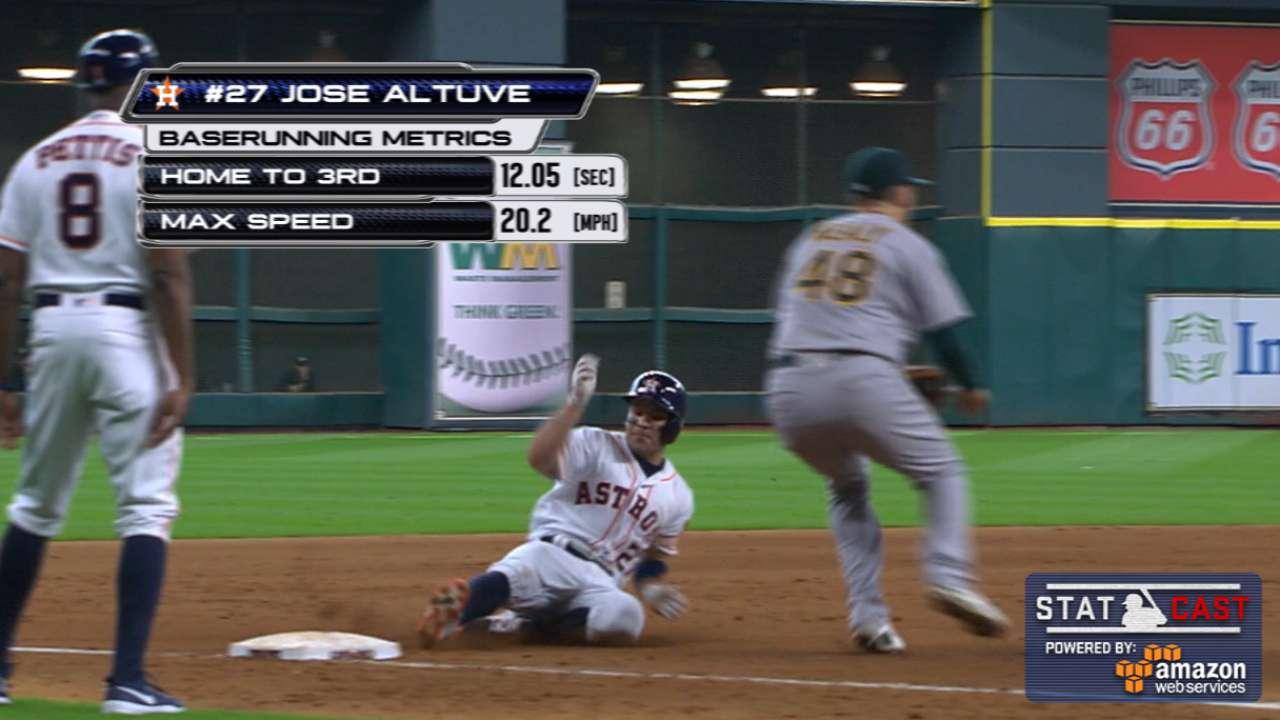Star power: Astros' triples jump-start rally