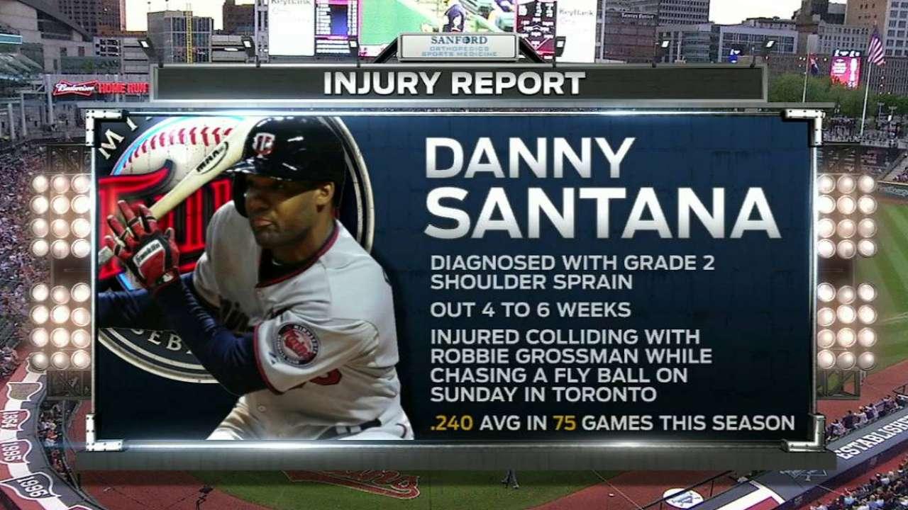 D. Santana out for season with shoulder sprain