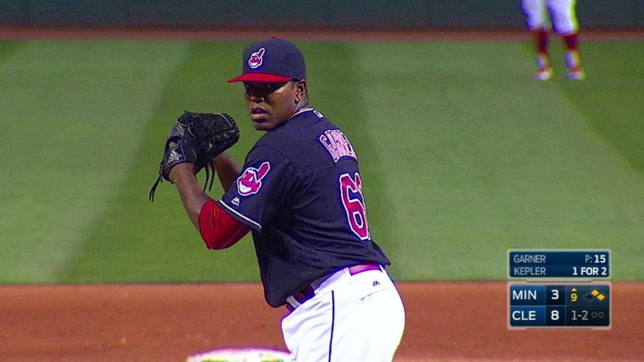 Garner's first career strikeout