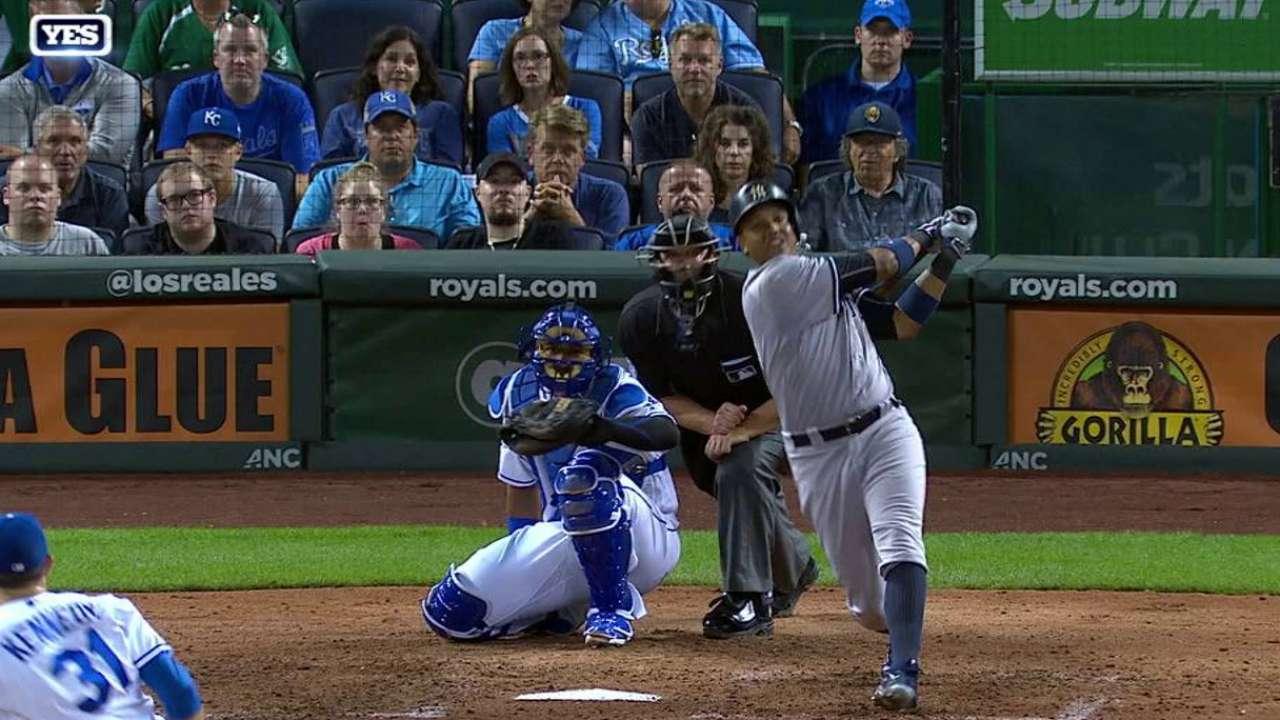 Yankees se llevan serie de K.C con ayuda de Castro