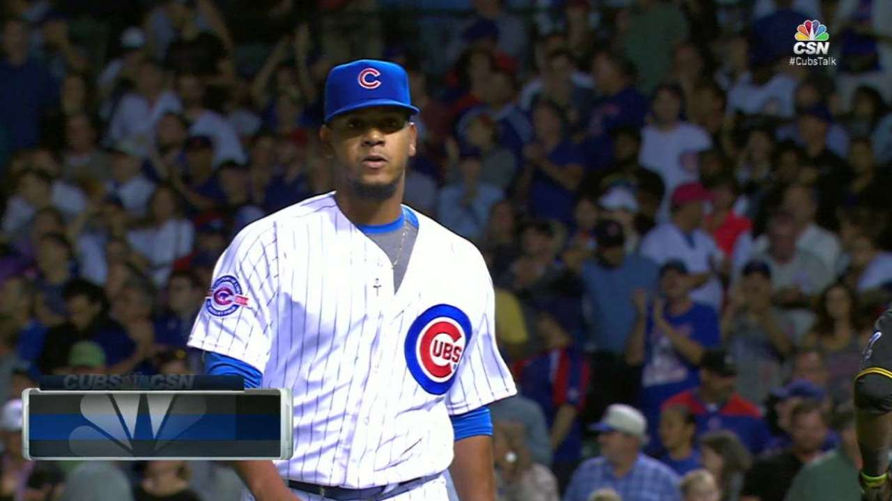Pena avoids trouble in the 8th