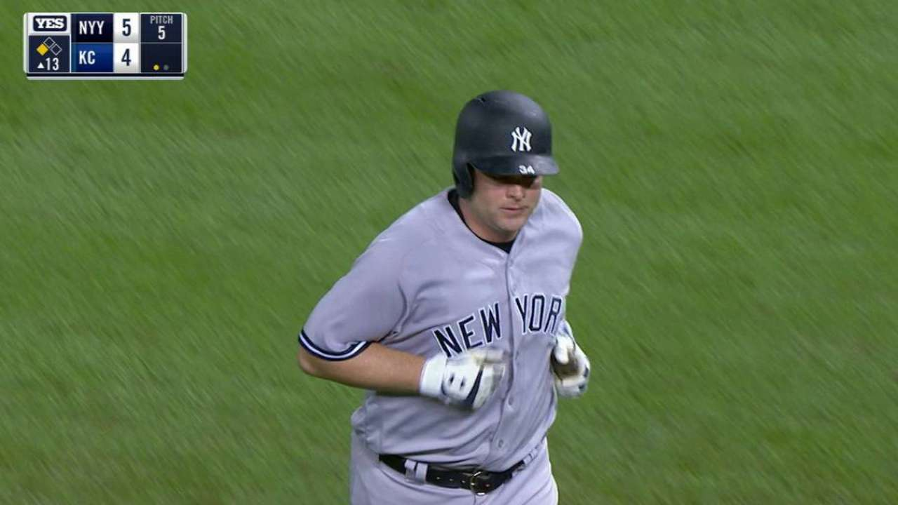 Yanks outlast Royals in 13th to gain in WC race
